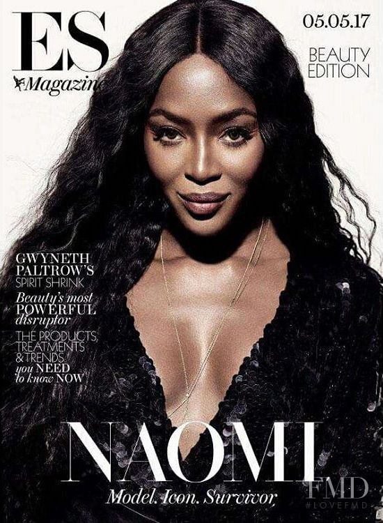Naomi Campbell featured on the ES Magazine cover from May 2017