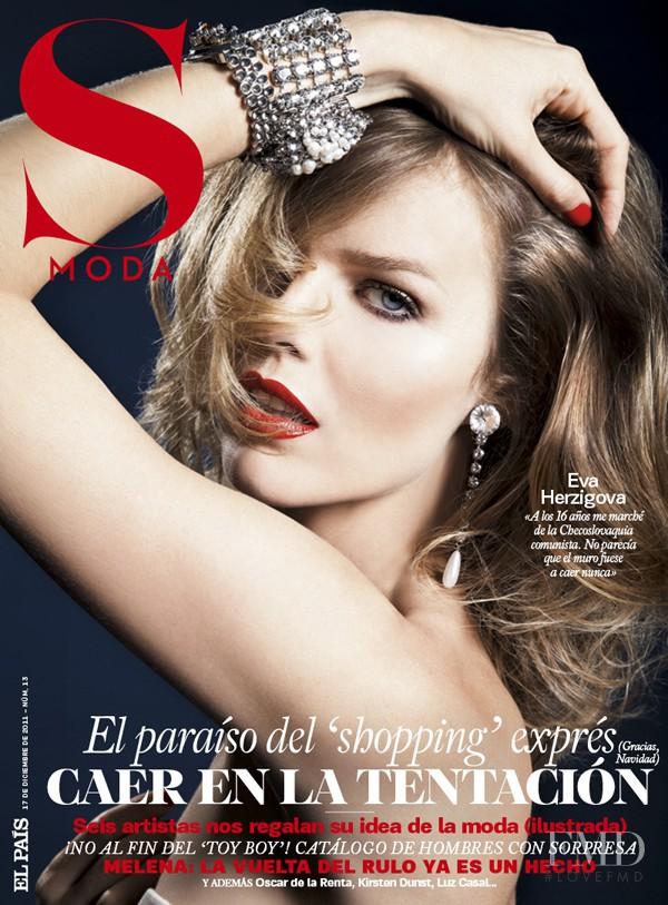 Eva Herzigova featured on the S Moda cover from December 2011