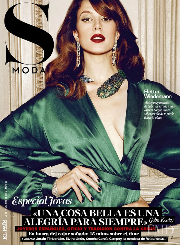 Elettra Rossellini featured on the S Moda cover from November 2011