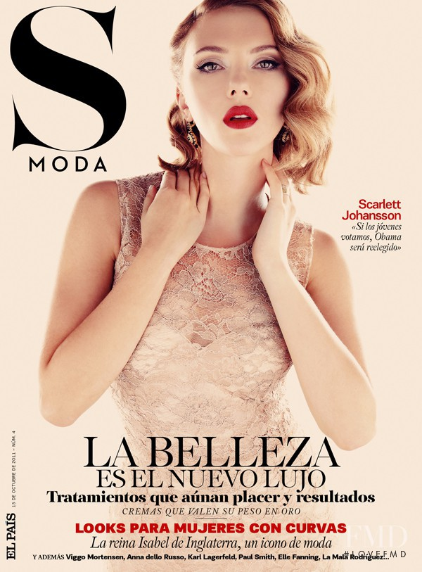 Scarlett Johansson featured on the S Moda cover from October 2011