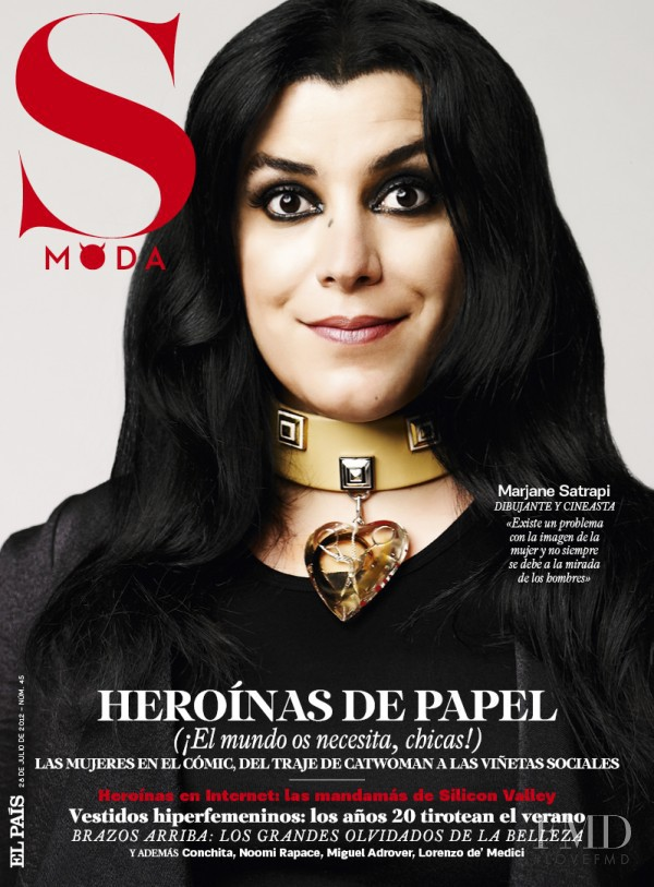 Marjane Satrapi  featured on the S Moda cover from July 2012