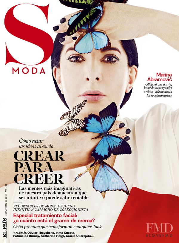 Marina Abramovic featured on the S Moda cover from March 2012