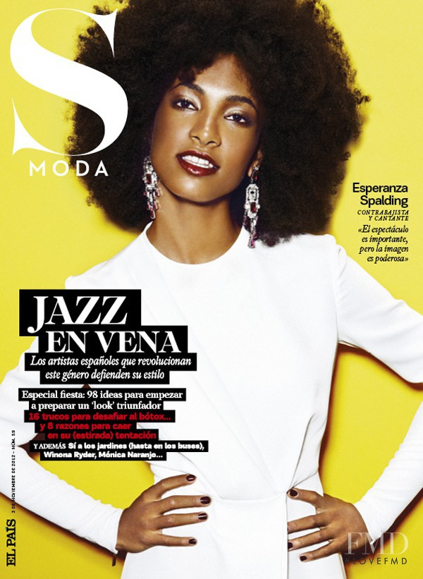 Esperanza Spalding featured on the S Moda cover from November 2012