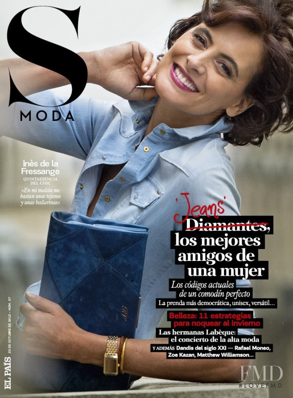 Inès de la Fressange featured on the S Moda cover from October 2012