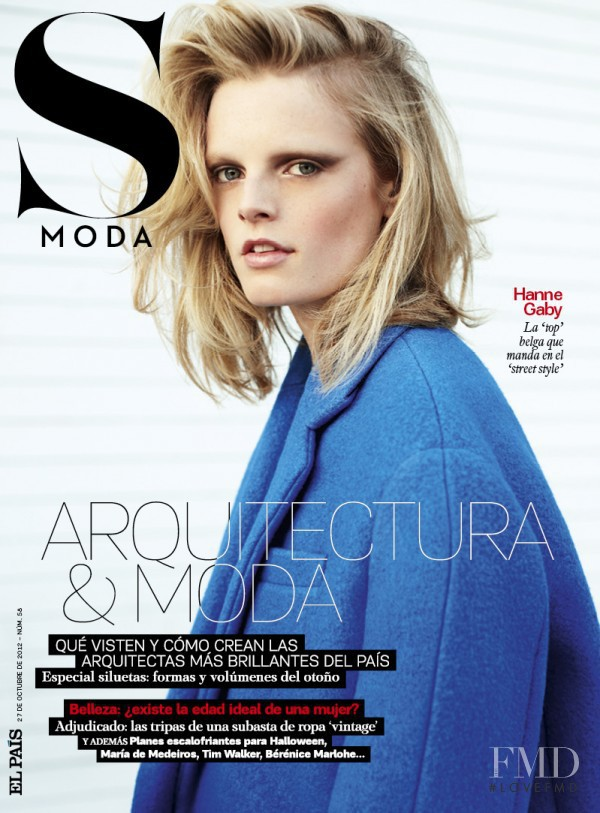 Hanne Gaby Odiele featured on the S Moda cover from October 2012