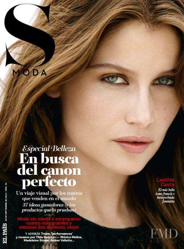 Laetitia Casta featured on the S Moda cover from September 2012