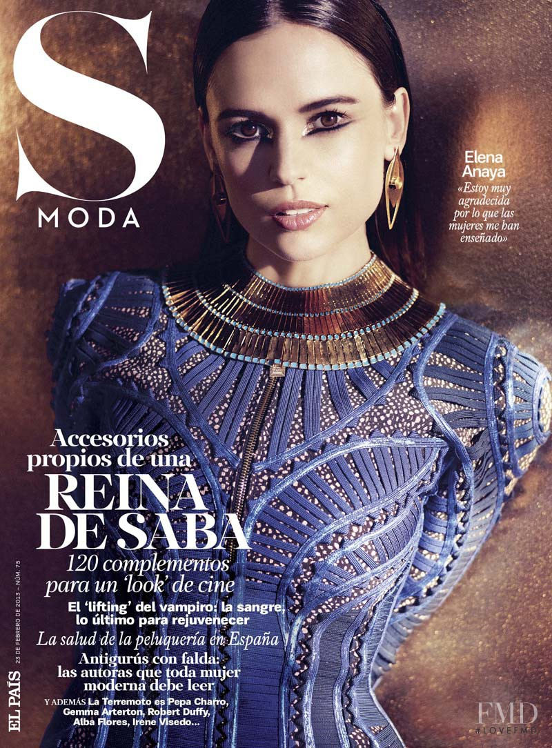 Elena Anaya featured on the S Moda cover from February 2013