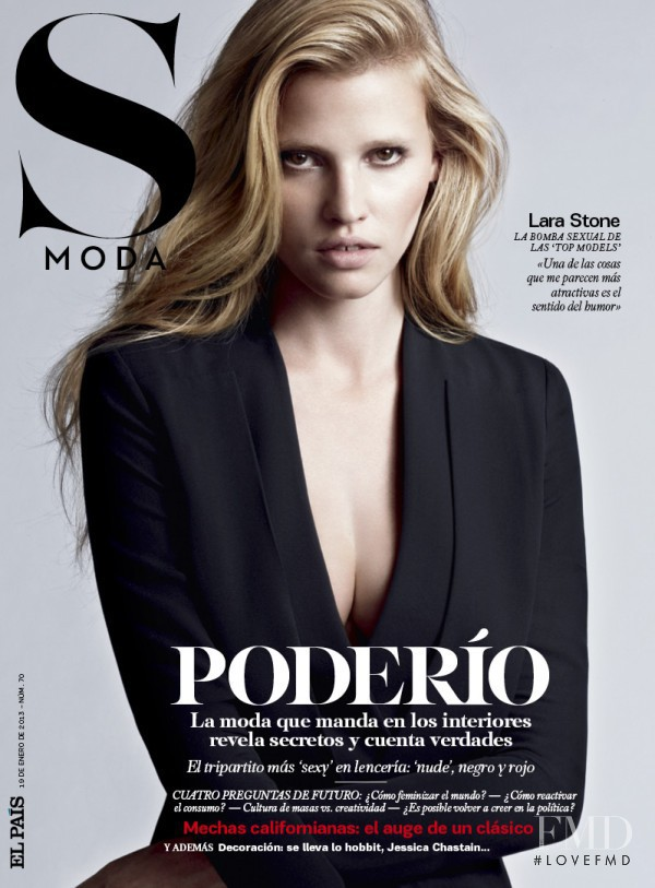Lara Stone featured on the S Moda cover from January 2013