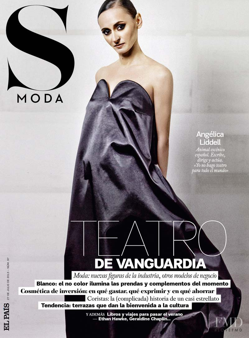 Angélica Liddell featured on the S Moda cover from July 2013