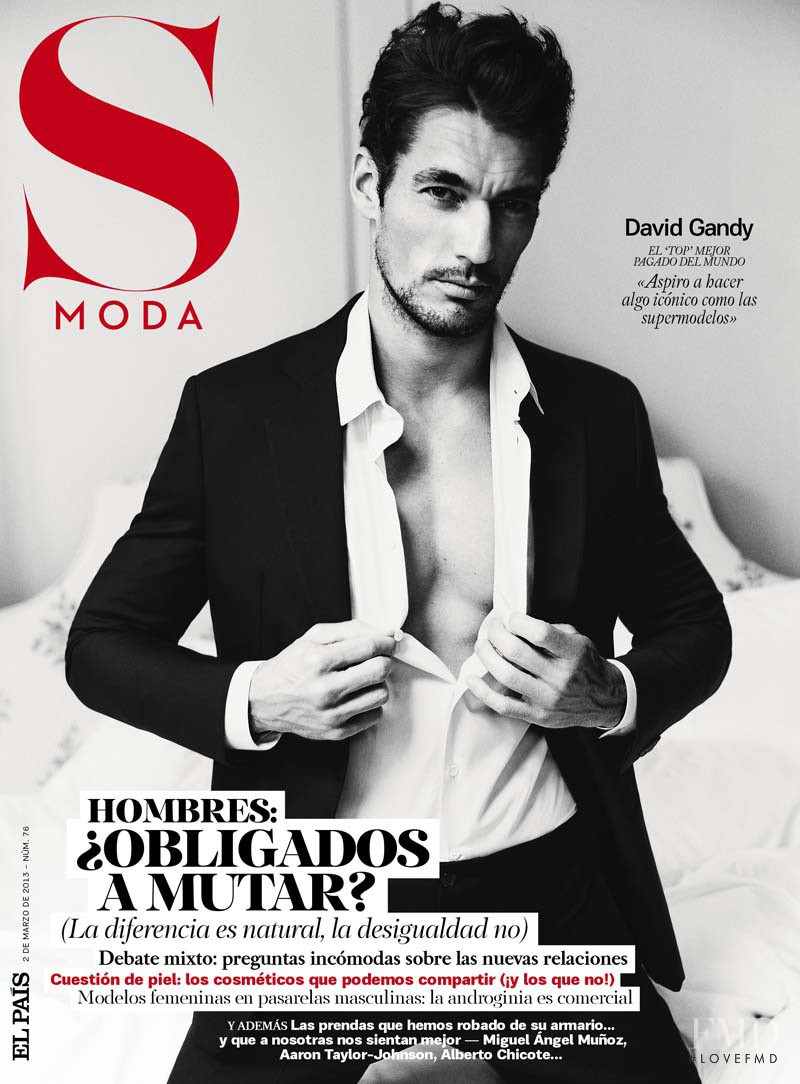 David Gandy featured on the S Moda cover from March 2013