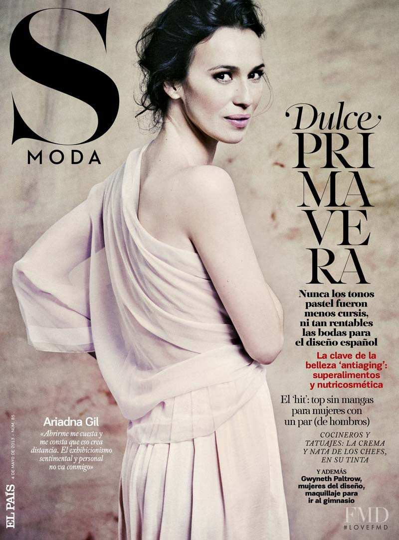 Ariadna Gil featured on the S Moda cover from May 2013