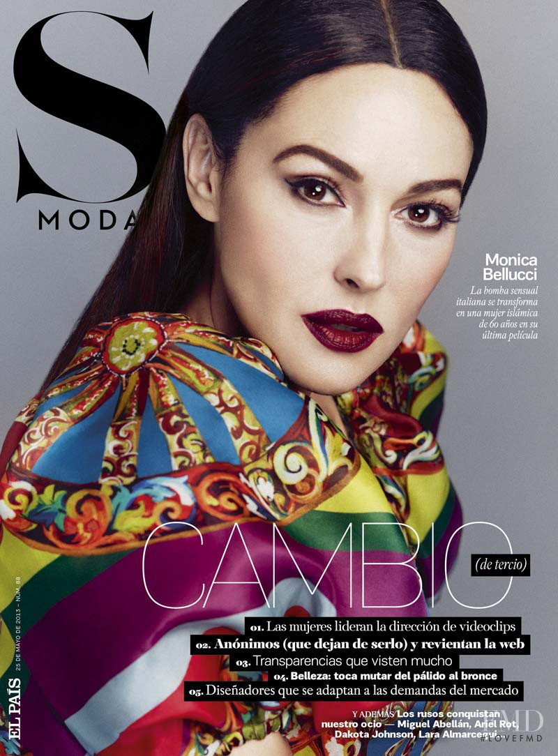 Monica Bellucci featured on the S Moda cover from May 2013