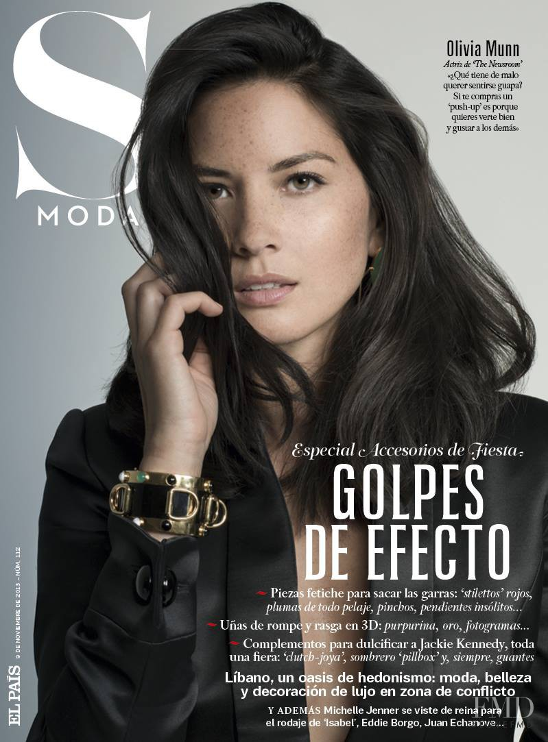 Olivia Munn featured on the S Moda cover from November 2013