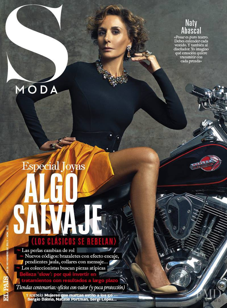 Naty Abascal featured on the S Moda cover from November 2013