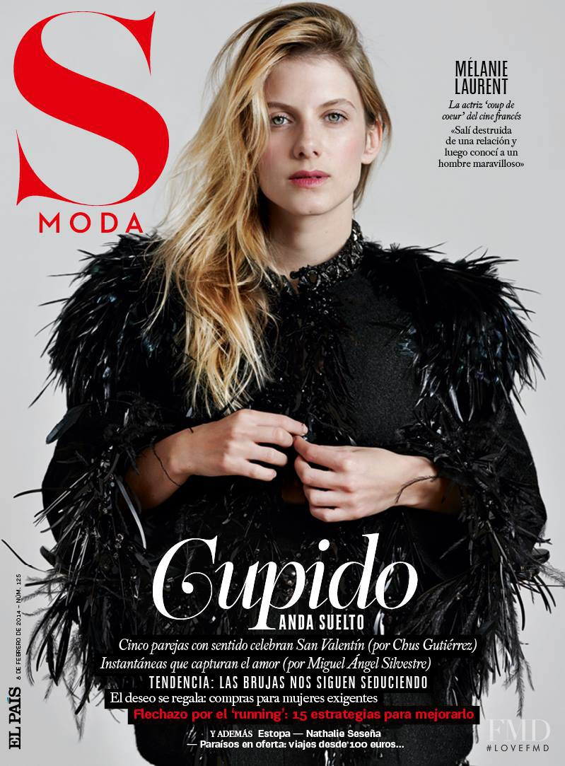 Mélanie Laurent featured on the S Moda cover from February 2014