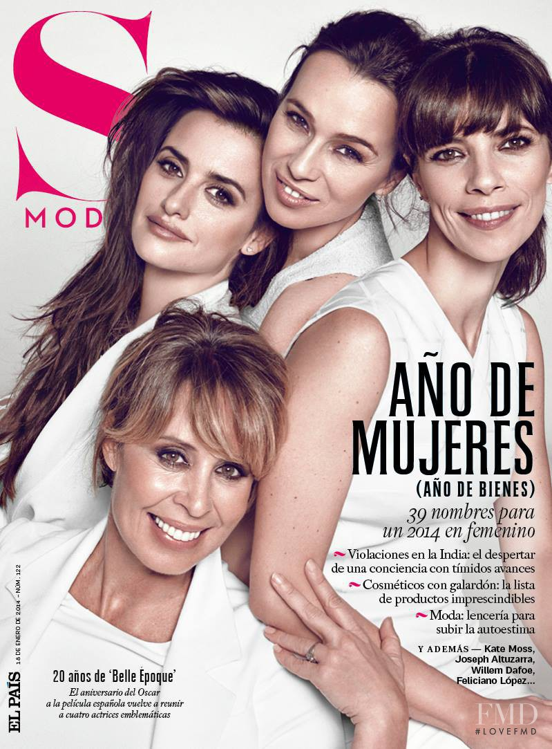 Penélope Cruz, Ariadna Gil, Miriam Díaz-Aroca, Maribel Verdú featured on the S Moda cover from January 2014