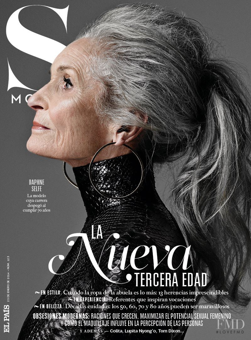 Daphne Selfe featured on the S Moda cover from January 2014