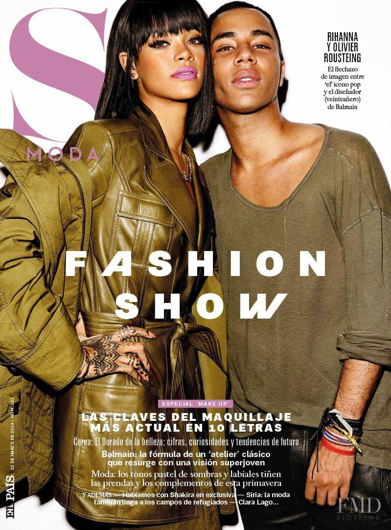 Rihanna, Olivier Rousteing featured on the S Moda cover from March 2014