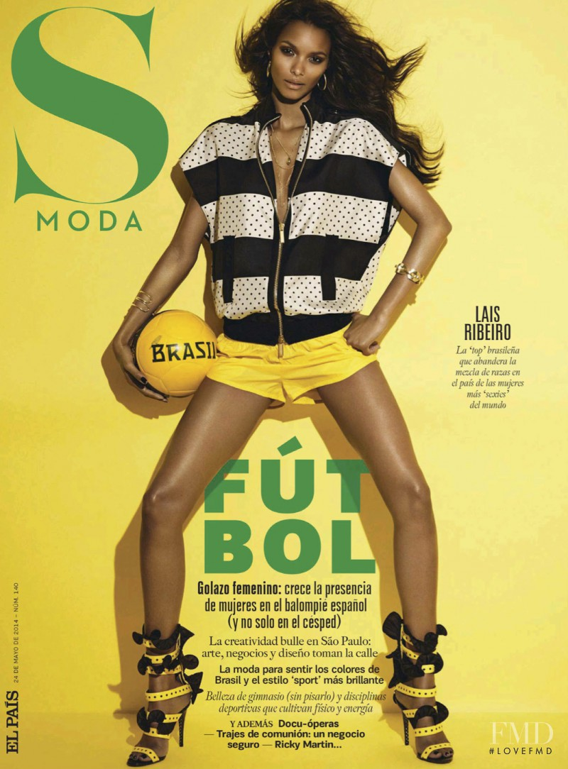 Lais Ribeiro featured on the S Moda cover from May 2014