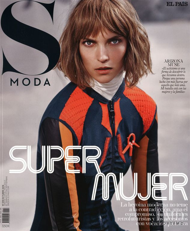 Arizona Muse featured on the S Moda cover from October 2016