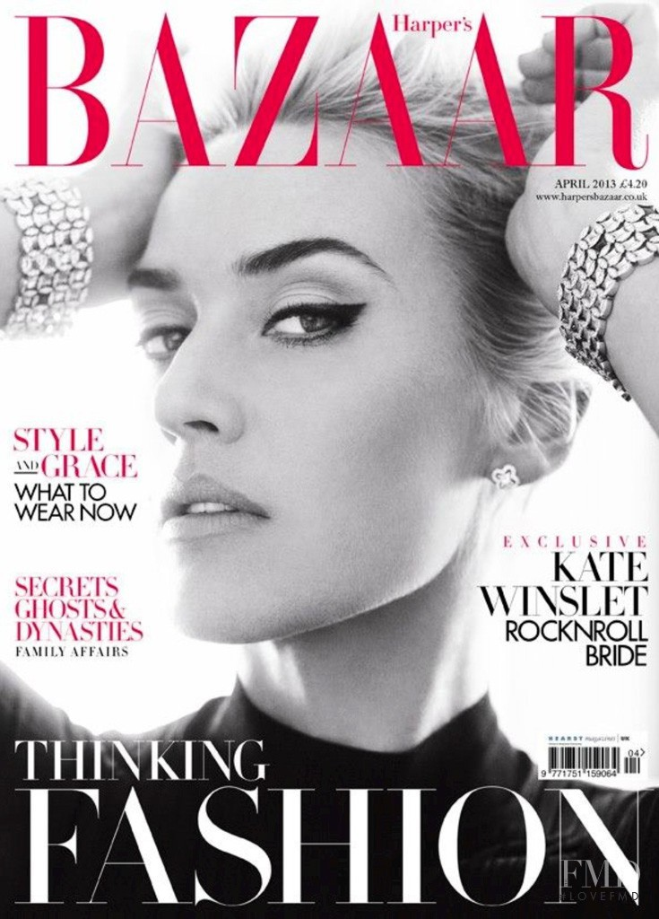Kate Winslet featured on the Harper\'s Bazaar UK cover from April 2013