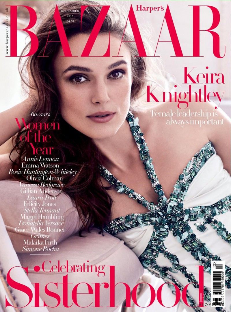 Keira Knightley featured on the Harper\'s Bazaar UK cover from December 2016