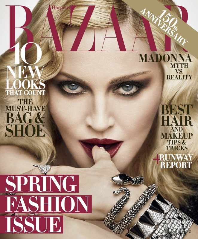 Madonna featured on the Harper\'s Bazaar USA cover from February 2017