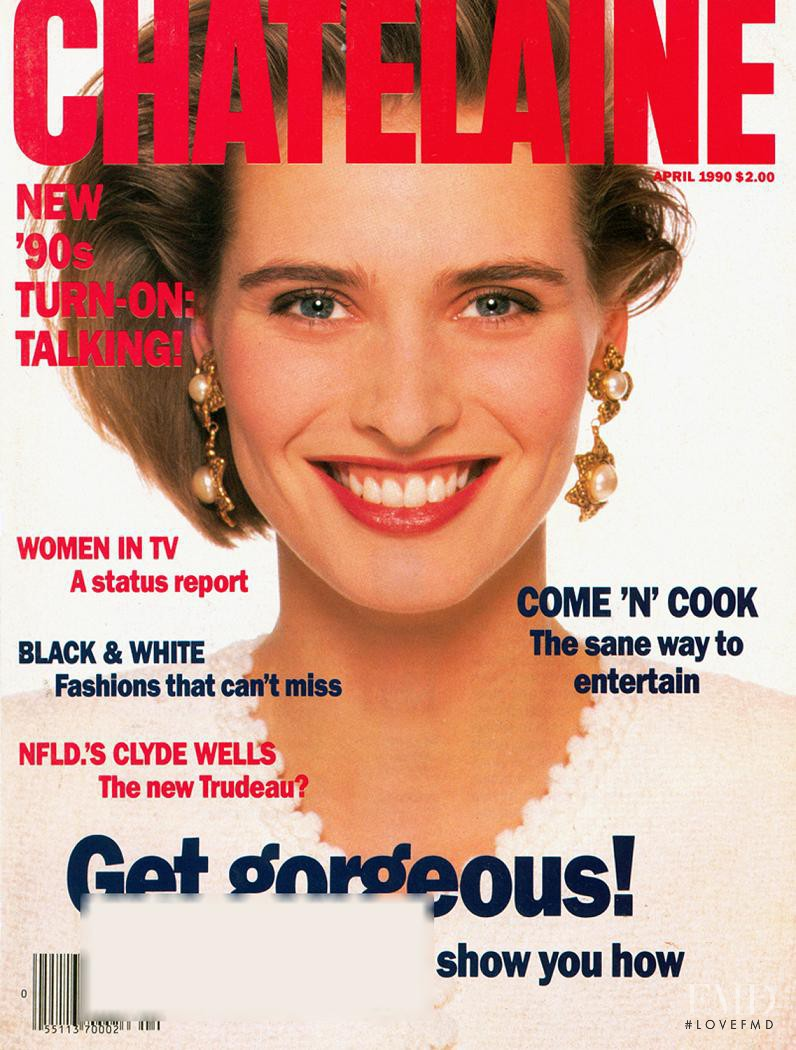 Cathy Fedoruk featured on the Ch�telaine cover from April 1990