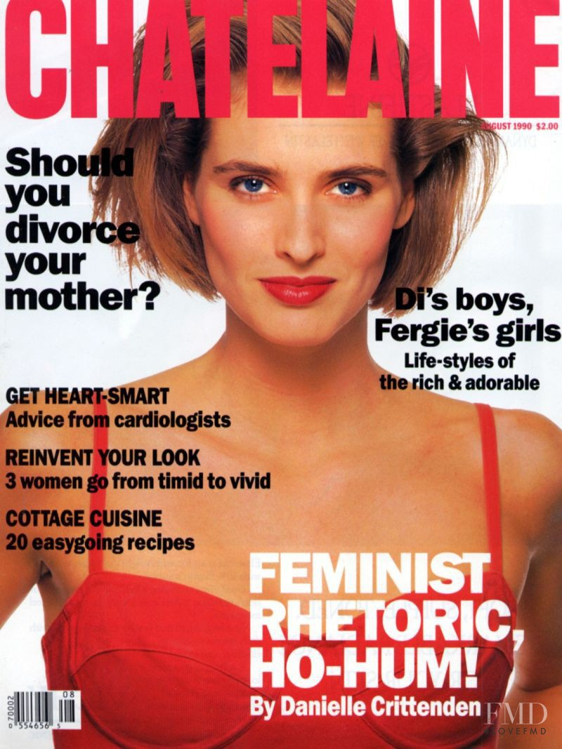 Cathy Fedoruk featured on the Châtelaine cover from August 1990