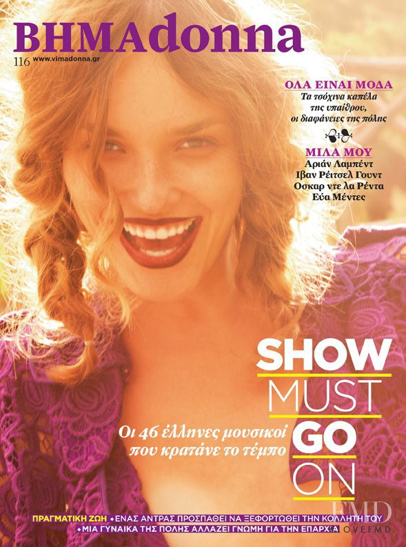 Elcee Orlova featured on the BHMAdonna cover from November 2011