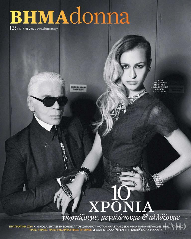 Karl Lagerfeld featured on the BHMAdonna cover from June 2012