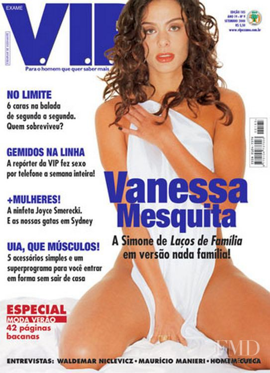 Vanessa Mesquita featured on the VIP cover from September 2000