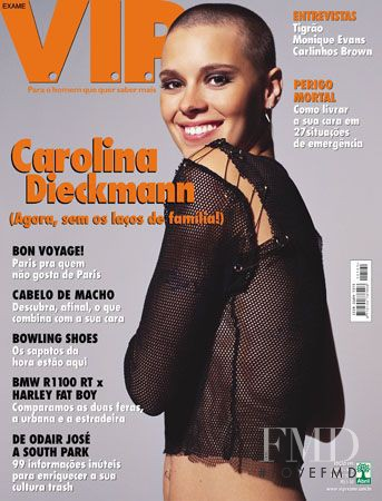Carolina Dieckmann featured on the VIP cover from March 2001