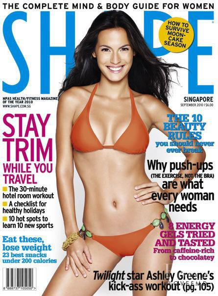 Alessandra Theo featured on the Shape Singapore cover from September 2010