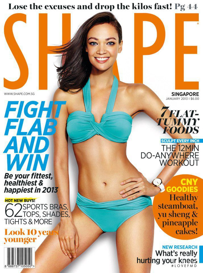 Elena Cheurina featured on the Shape Singapore cover from January 2013