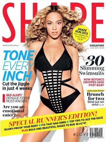 Beyonc� Knowles featured on the Shape Singapore cover from June 2013