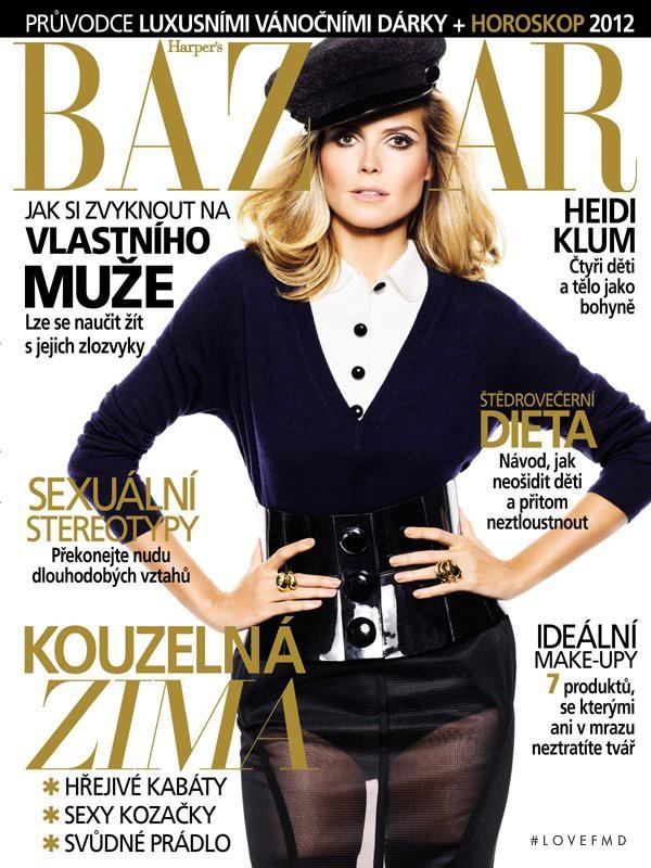 Heidi Klum featured on the Harper\'s Bazaar Czech cover from November 2011