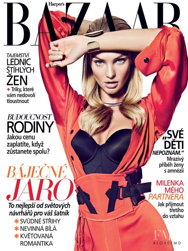 Candice Swanepoel featured on the Harper\'s Bazaar Czech cover from March 2012
