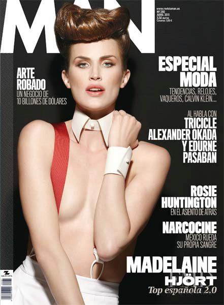 Madeleine Hjort featured on the Man cover from April 2011