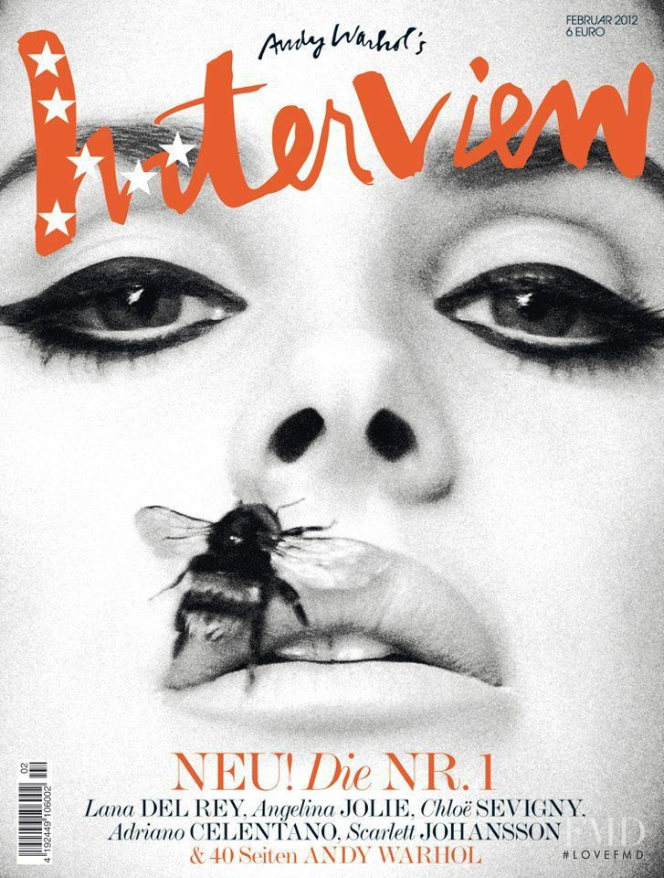 Lana Del Rey featured on the Interview Germany cover from February 2012