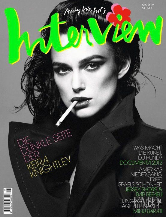 Keira Knightley featured on the Interview Germany cover from May 2012