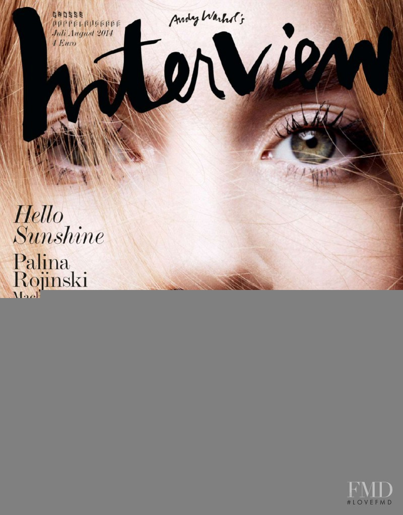 Palina Rojinski featured on the Interview Germany cover from July 2014