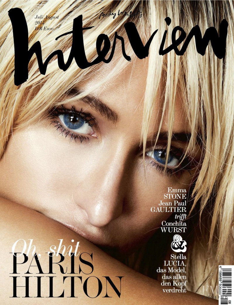 Paris Hilton featured on the Interview Germany cover from July 2015