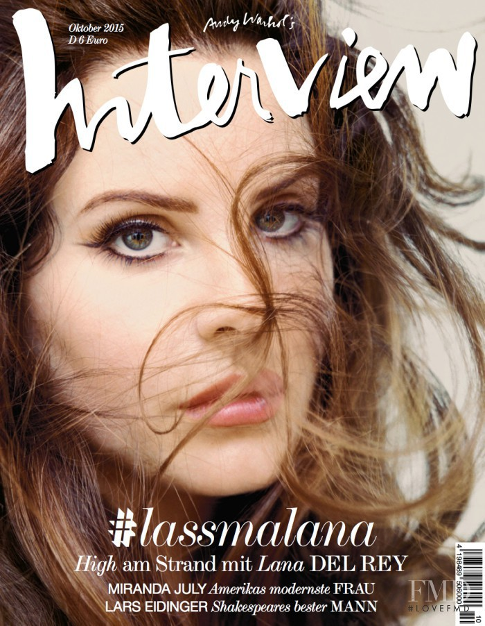 Lana Del Rey featured on the Interview Germany cover from October 2015