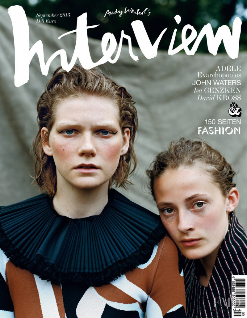 Marland Backus featured on the Interview Germany cover from September 2015