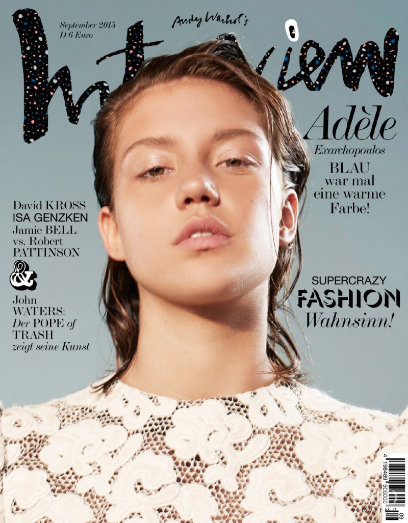 Adèle Exarchopoulos featured on the Interview Germany cover from September 2015