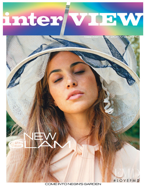 Negin Mirsalehi featured on the Interview Germany cover from September 2017