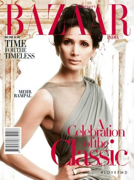 Mehr Jessia featured on the Harper\'s Bazaar India cover from May 2009