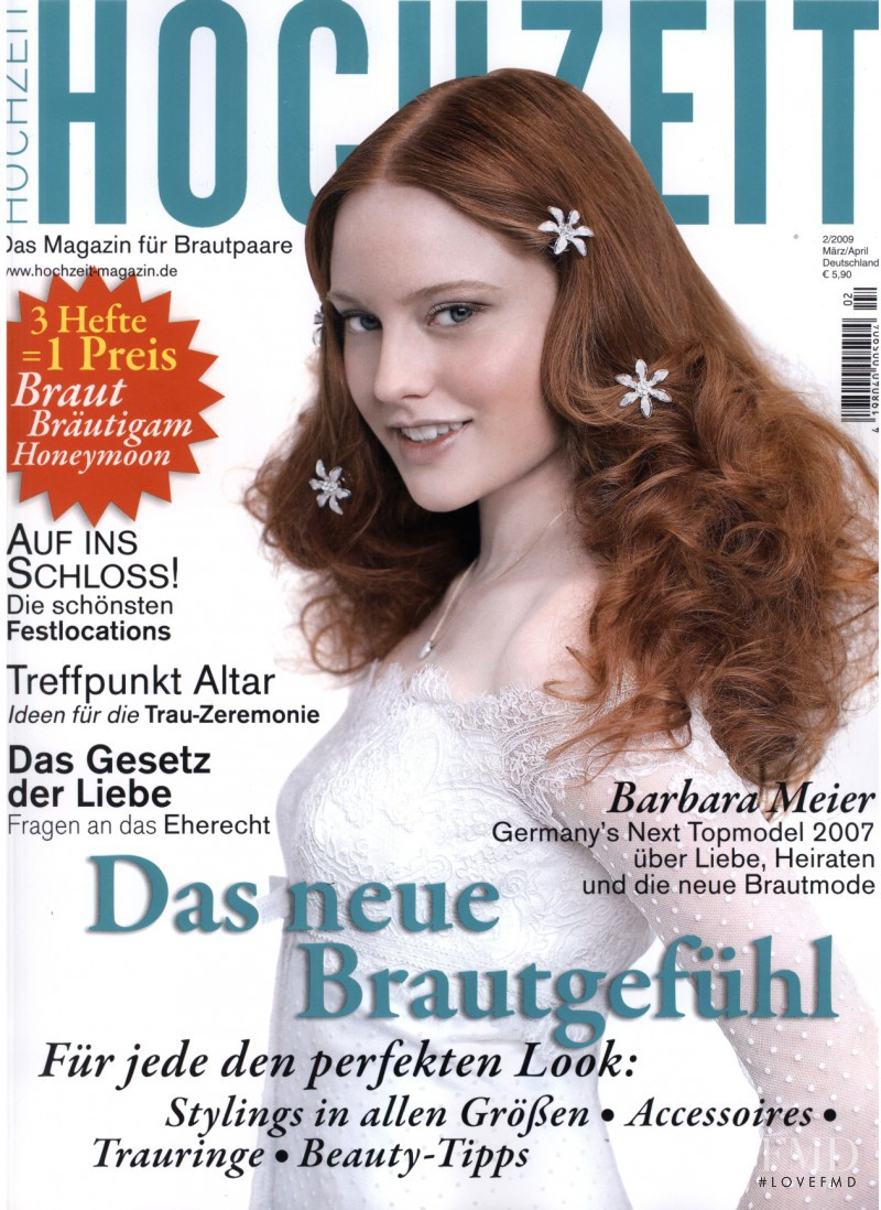 Barbara Meier featured on the Hochzeit cover from February 2009