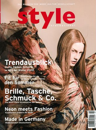 Barbara Meier featured on the Style International cover from June 2008